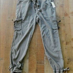 Nwt A-3 MARRAKECH gray utlity cargo travel jogger